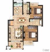 京河湾公寓2室2厅1卫85--90平方米户型图
