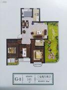 上林苑3室2厅2卫141平方米户型图