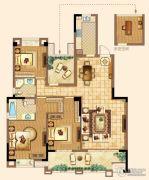 深业华府3室2厅2卫139平方米户型图