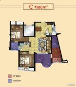 正丰・银座3室2厅1卫88平方米户型图