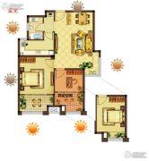 美好汇邻湾2室2厅1卫0平方米户型图
