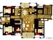 洛城中央御景3室2厅3卫175平方米户型图