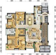 凤凰谷6室4厅7卫466平方米户型图