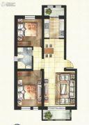 东方国际城2室2厅1卫90平方米户型图