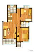 逸时区2室2厅1卫85平方米户型图