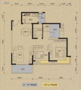 保利国际城翡丽湾3室2厅1卫94平方米户型图