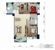 浏卉新城3室2厅2卫121平方米户型图