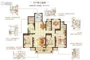 嘉洲灏庭3室2厅2卫151平方米户型图