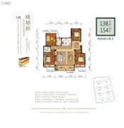 佳源・优优花园二期4室2厅2卫138--154平方米户型图