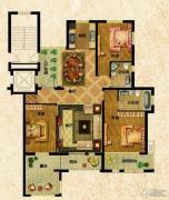 万光中央公园3室2厅2卫137平方米户型图