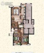 莲桥府3室2厅2卫133平方米户型图