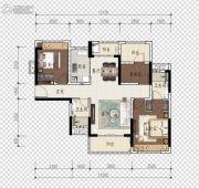 旭辉江山2室2厅2卫105平方米户型图
