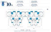 藤业翠湾2室2厅1卫64--92平方米户型图