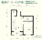 强佑・府学上院1室1厅1卫0平方米户型图