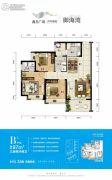 鑫月广场・欢乐海湾3室2厅2卫0平方米户型图