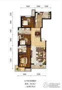 新加坡城3室2厅2卫126平方米户型图