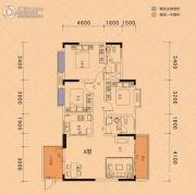 楚豪时代天骄2室2厅1卫112平方米户型图