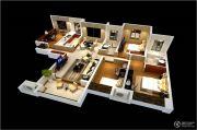雅居乐林语城4室2厅2卫127平方米户型图
