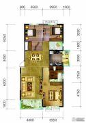 恒大御景半岛3室2厅2卫167平方米户型图