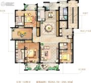大美城5室3厅4卫282--286平方米户型图