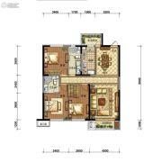 碧桂园御长白3室2厅2卫120平方米户型图
