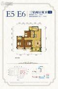 邦泰・国际社区(北区)3室2厅2卫102--114平方米户型图