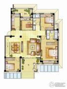 银亿璞园4室2厅2卫126平方米户型图