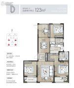 东原印未来4室2厅2卫123平方米户型图