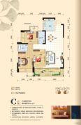 碧园・印象桂林3室2厅2卫112平方米户型图