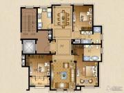 运河一品3室3厅2卫153平方米户型图