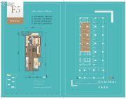 华润・中央公园1室1厅1卫39平方米户型图
