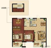 浙大网新未来郡3室2厅1卫87平方米户型图