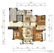 东泰・春江名园3室2厅2卫129平方米户型图