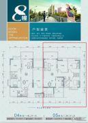 城市美林2室2厅1卫110平方米户型图