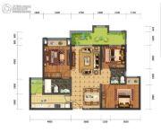蓝光中央广场3室2厅2卫90平方米户型图