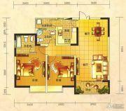 春天印象二期2室2厅1卫96平方米户型图