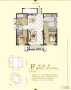 中央公园城3室2厅2卫116平方米户型图