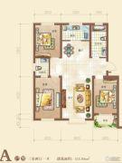 御景园3室2厅1卫111平方米户型图