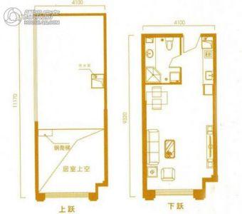 鼎盛华世纪广场公寓loft b户型图