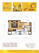 众安・朝阳银座1室1厅1卫36平方米户型图