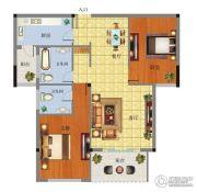 忠仙华庭2室2厅2卫0平方米户型图