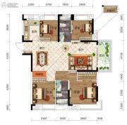 保利时代4室2厅2卫141平方米户型图