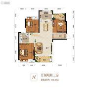 金桥庭院3室2厅1卫108平方米户型图