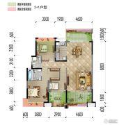梅州万达广场3室2厅2卫130平方米户型图