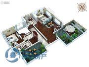 金石里巷4室2厅2卫176平方米户型图