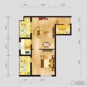 恩施国际商贸城1室1厅1卫67平方米户型图