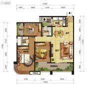 中交锦湾一期3室2厅2卫138平方米户型图