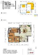 钓鱼台・和府2室2厅2卫137平方米户型图