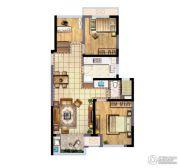 新城香悦澜山3室2厅1卫83平方米户型图