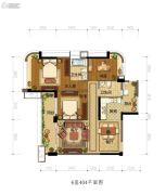 雅居乐新城湾畔3室2厅2卫118平方米户型图